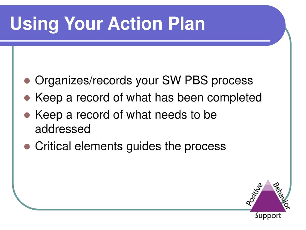 Using Your Action Plan