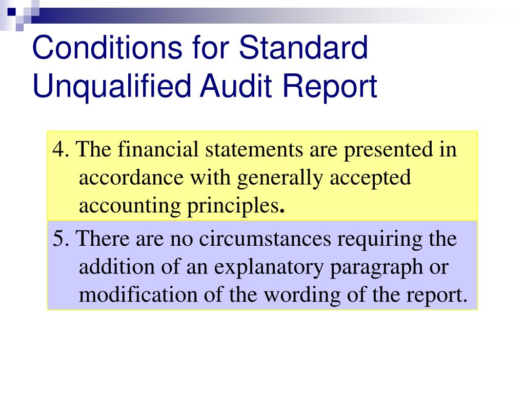 auditors reports and circumstances