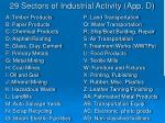 29 sectors of industrial activity app d