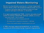 impaired waters monitoring