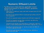 numeric effluent limits