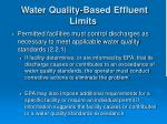 water quality based effluent limits