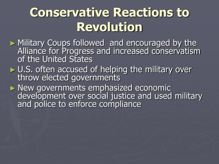 conservative reactions to revolution n.
