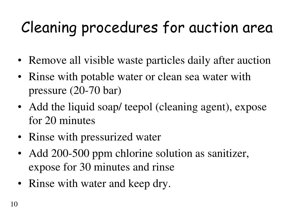 PPT - Cleaning procedures PowerPoint Presentation - ID:416818