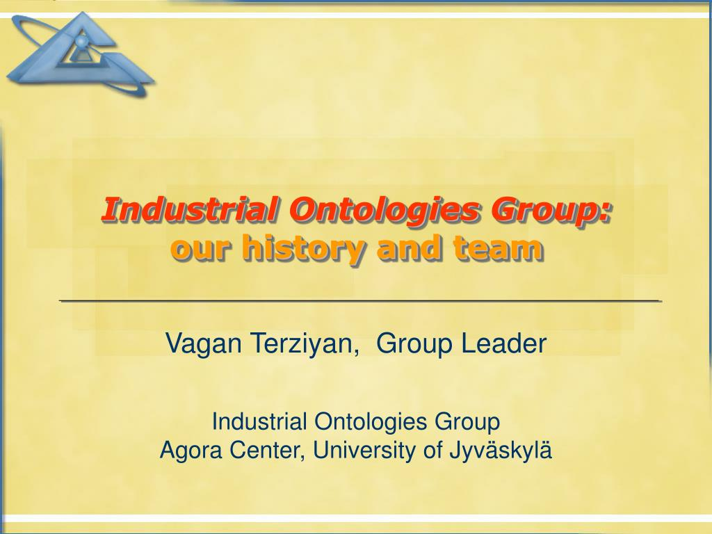 industrial ontologies group our history and team l.