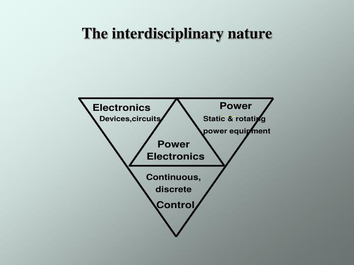The interdisciplinary nature