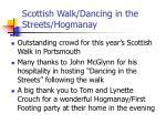 scottish walk dancing in the streets hogmanay