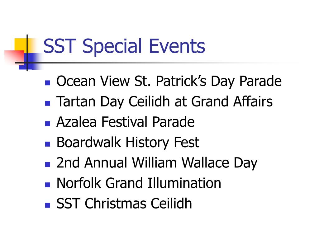 SST Special Events