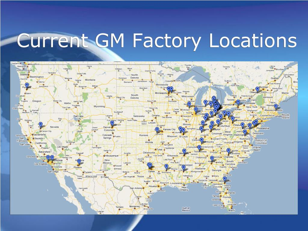 Current GM Factory Locations