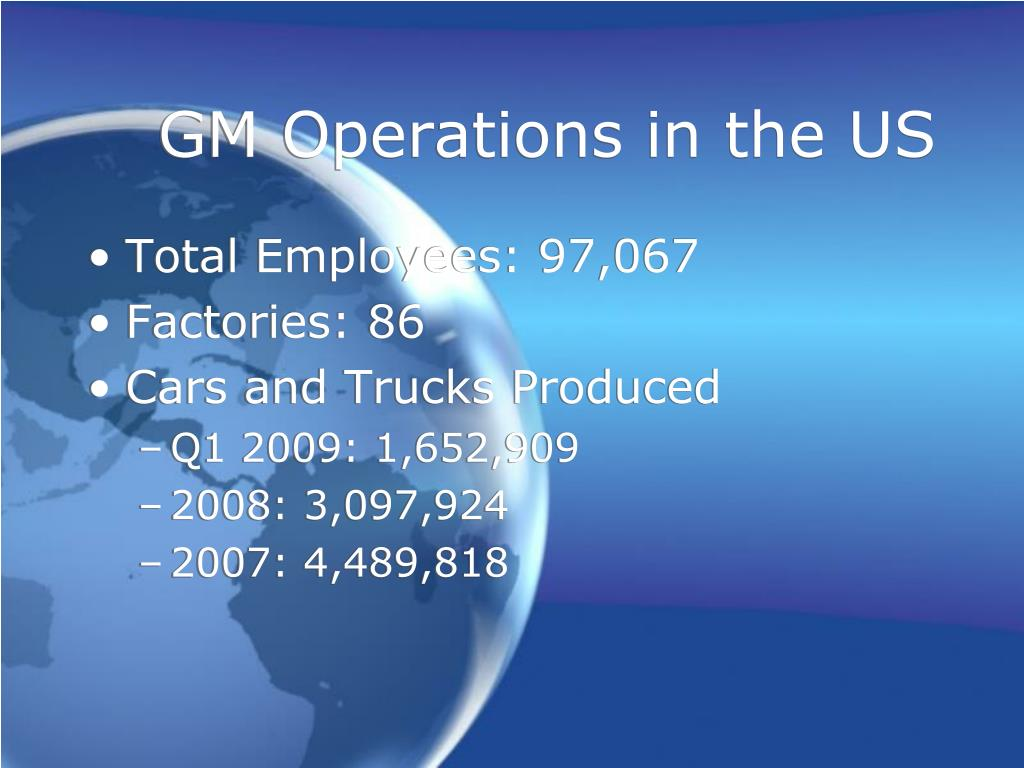 GM Operations in the US