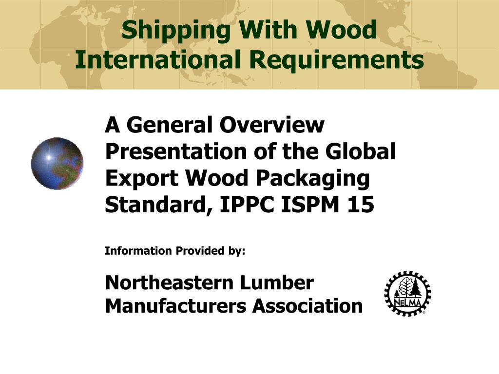 shipping with wood international requirements