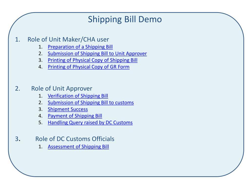 shipping bill demo l.