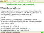 hot operations on polymers