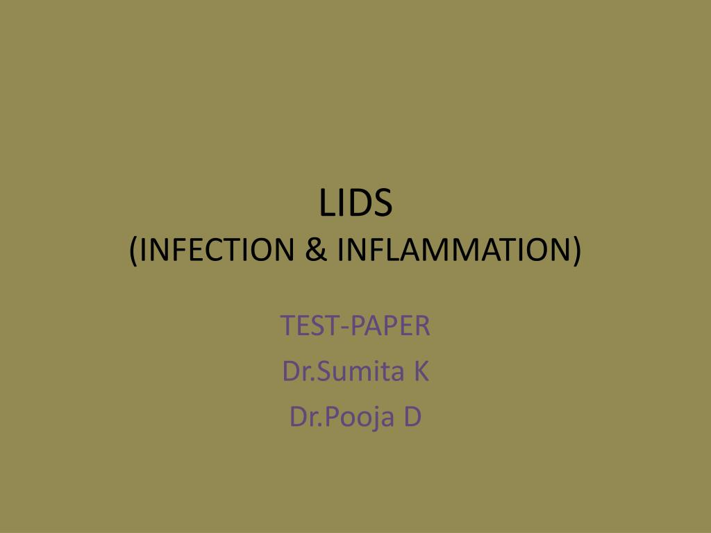 lids infection inflammation l.