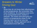 answers to winter driving quiz12