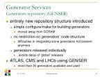 generator services generators repository genser