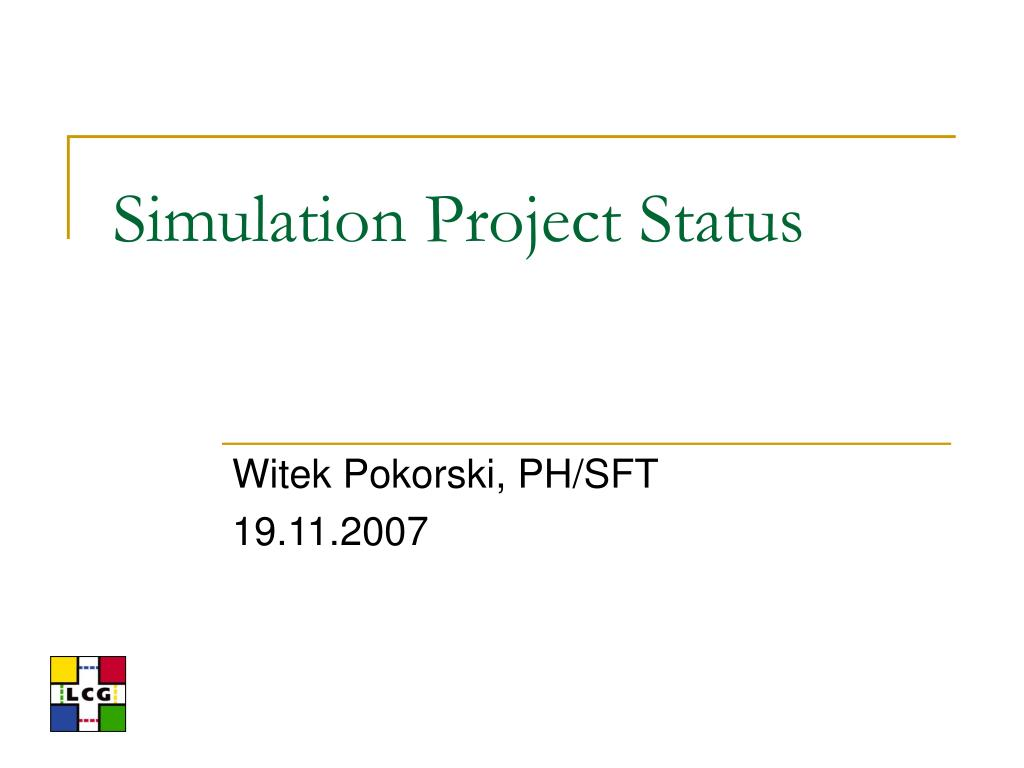 simulation project status