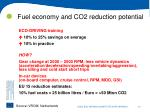 fuel economy and co2 reduction potential