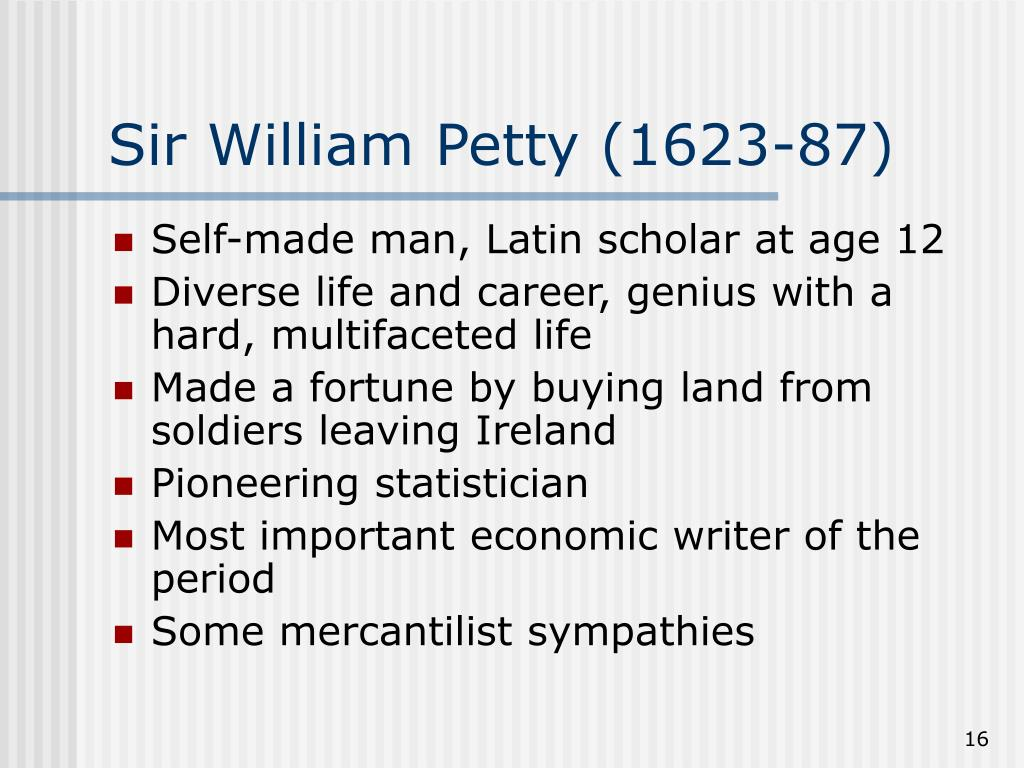 Sir William Petty (1623-87)