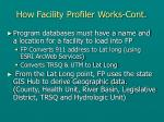how facility profiler works cont