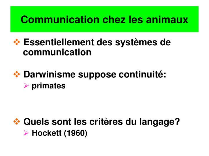 Communication chez les animaux