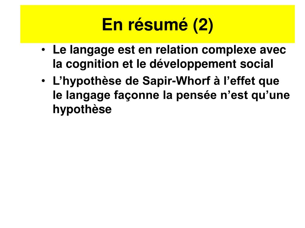 En résumé (2)