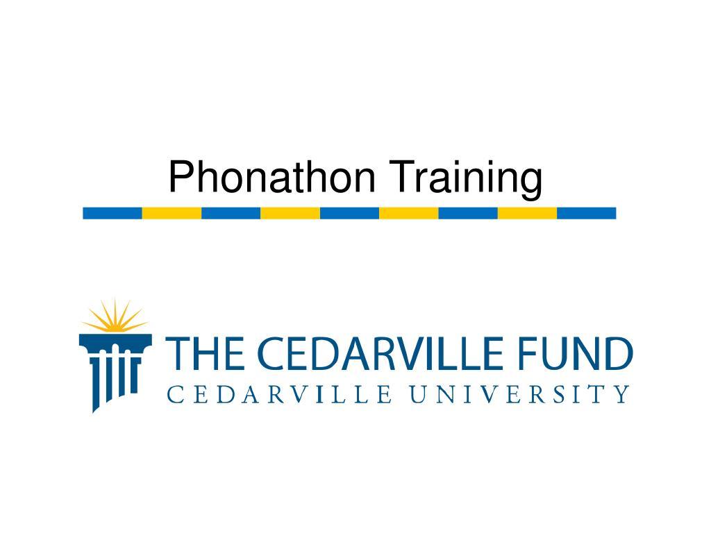 Phonathon Training