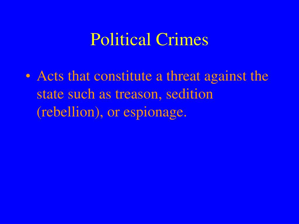 Political Crimes