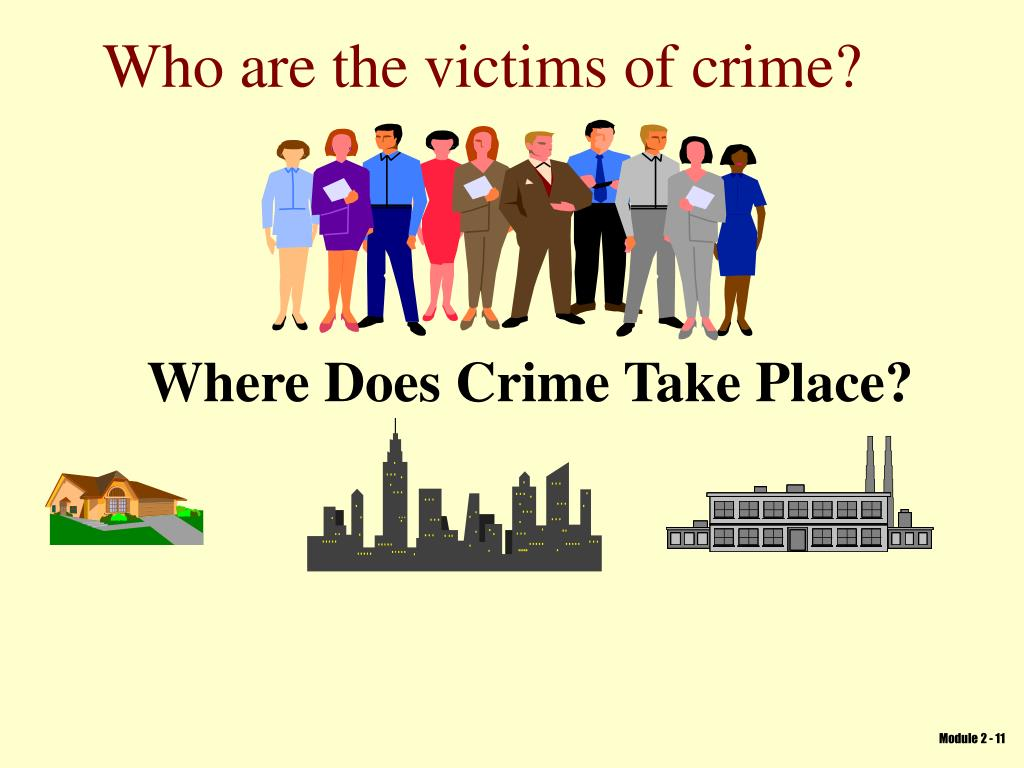 Who are the victims of crime?