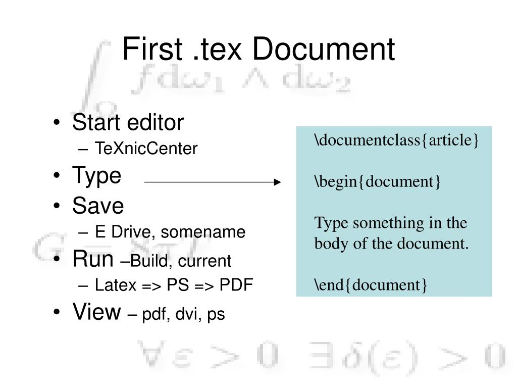 PPT - Introduction to Latex Workshop PowerPoint Presentation - ID:417174