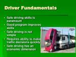 driver fundamentals