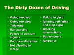 the dirty dozen of driving