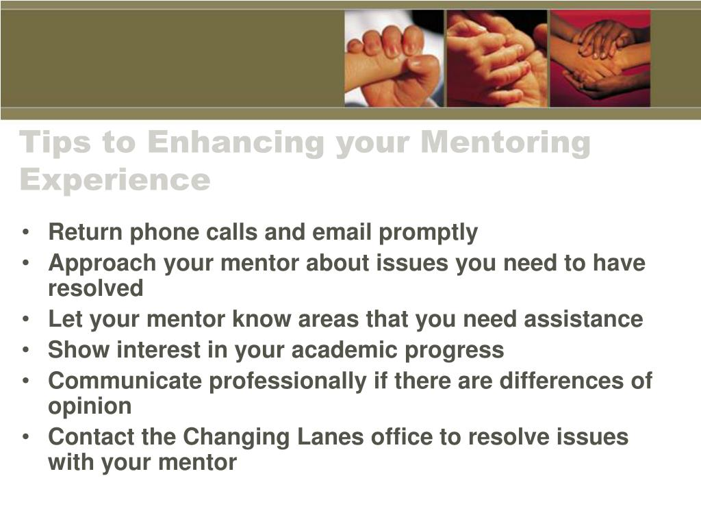 Tips to Enhancing your Mentoring Experience
