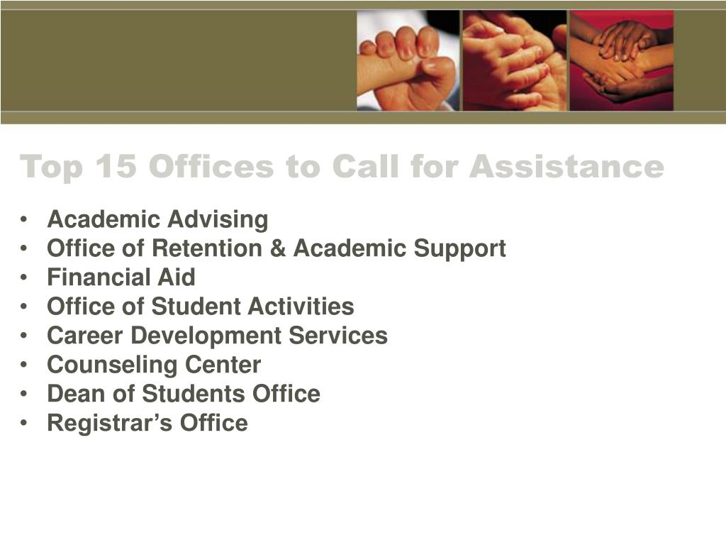 Top 15 Offices to Call for Assistance