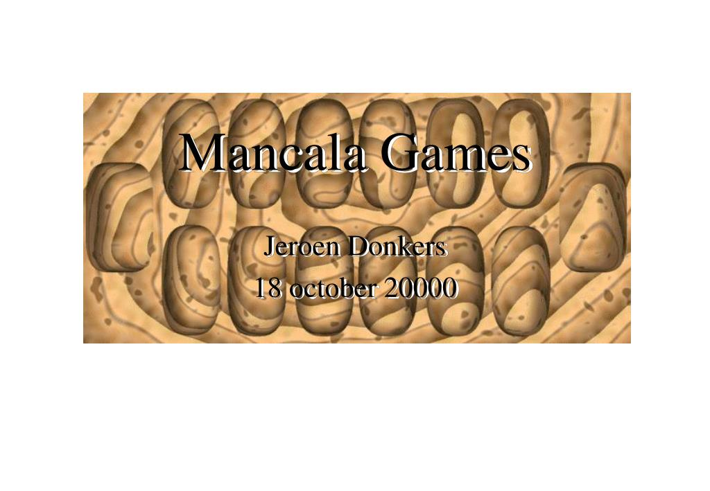 Ppt Mancala Games Powerpoint Presentation Free Download Id 417234