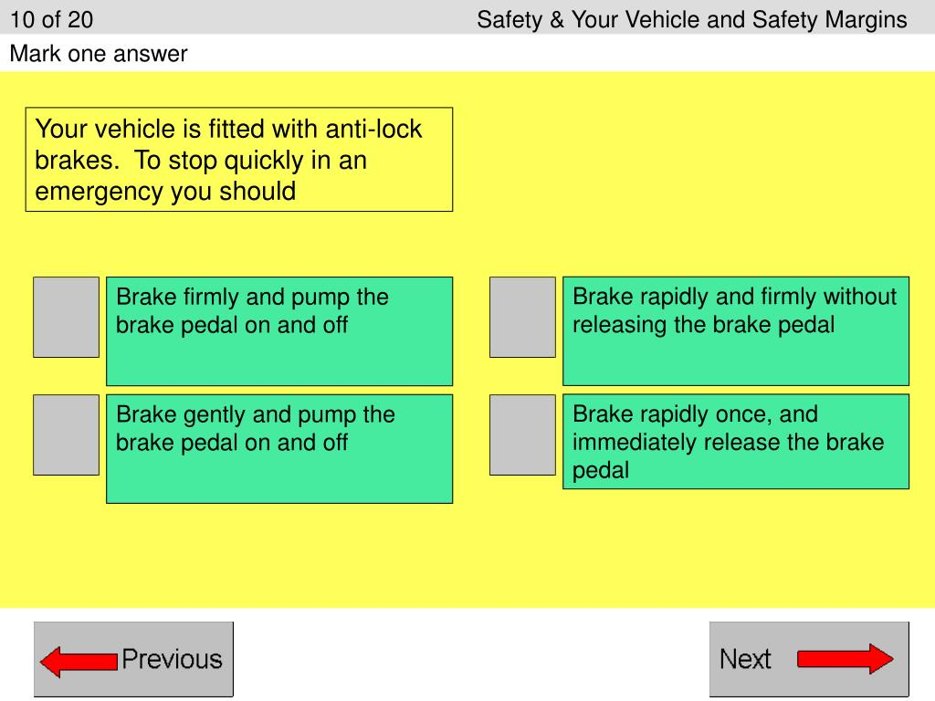 10 of 20Safety & Your Vehicle and Safety Margins
