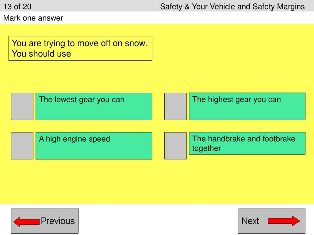 13 of 20Safety & Your Vehicle and Safety Margins