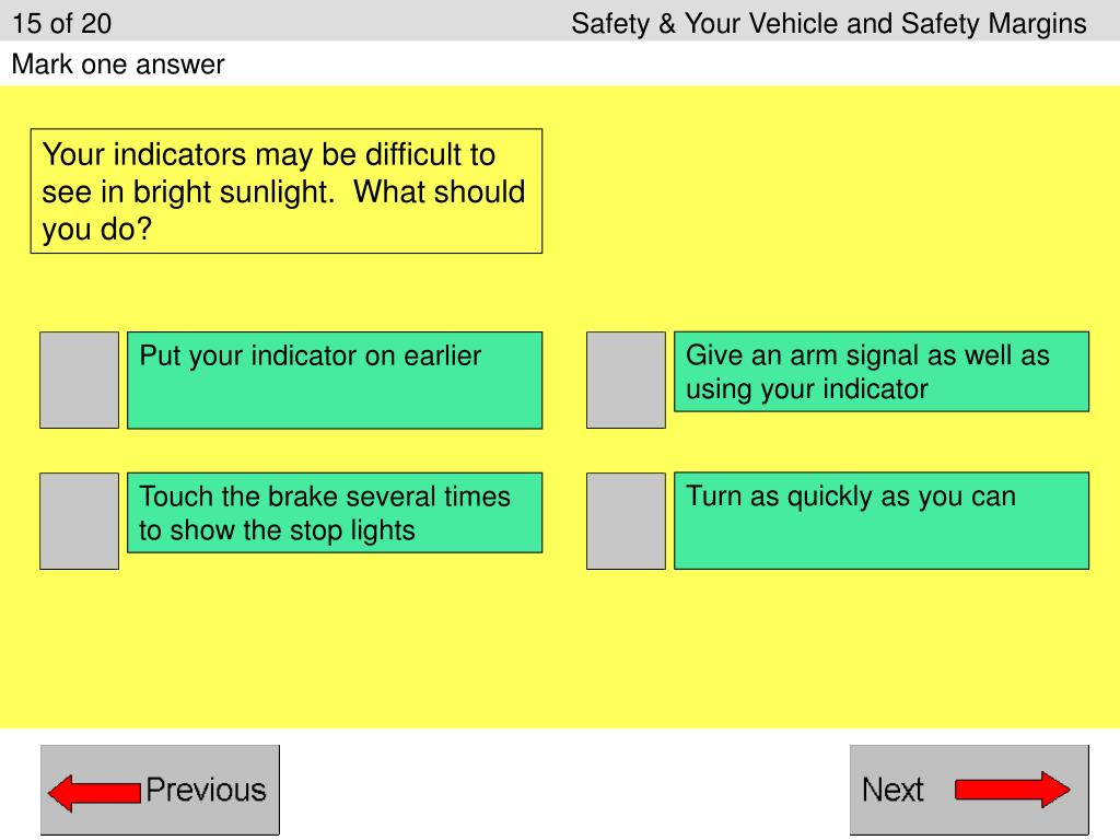 15 of 20Safety & Your Vehicle and Safety Margins