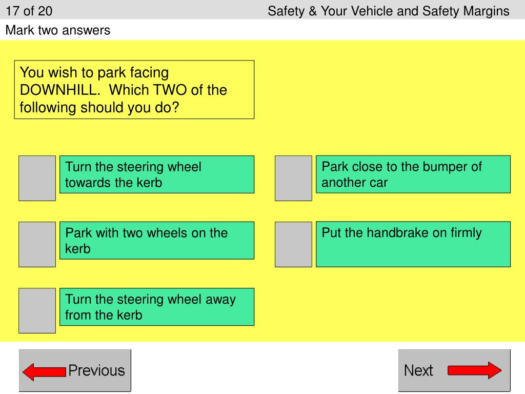 17 of 20Safety & Your Vehicle and Safety Margins