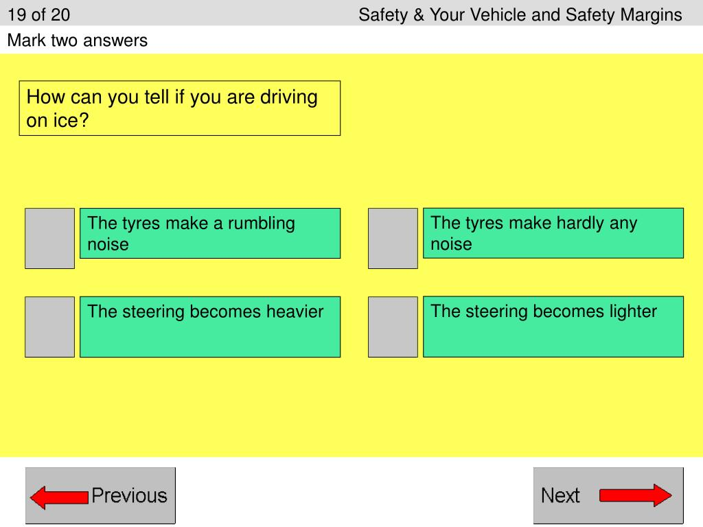19 of 20Safety & Your Vehicle and Safety Margins