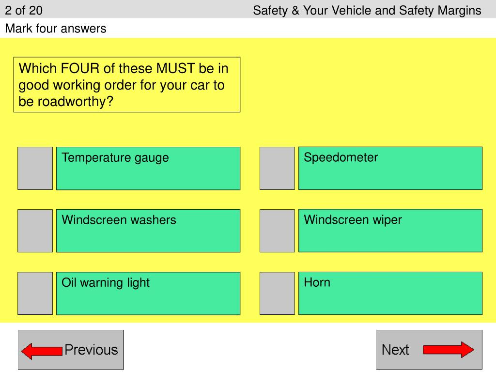 2 of 20Safety & Your Vehicle and Safety Margins