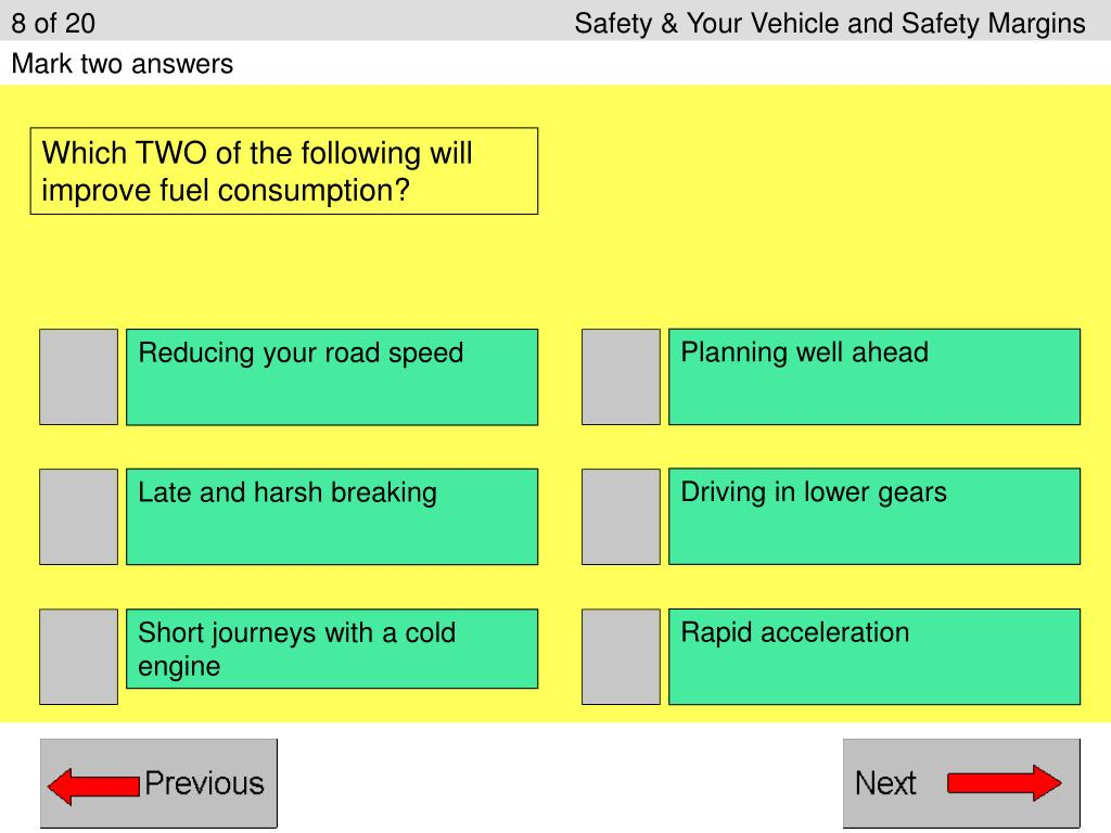 8 of 20 Safety & Your Vehicle and Safety Margins