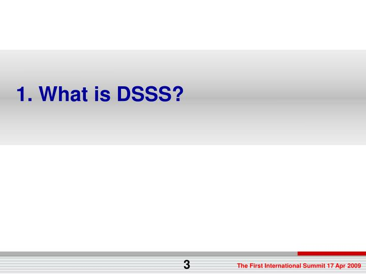 1. What is DSSS?