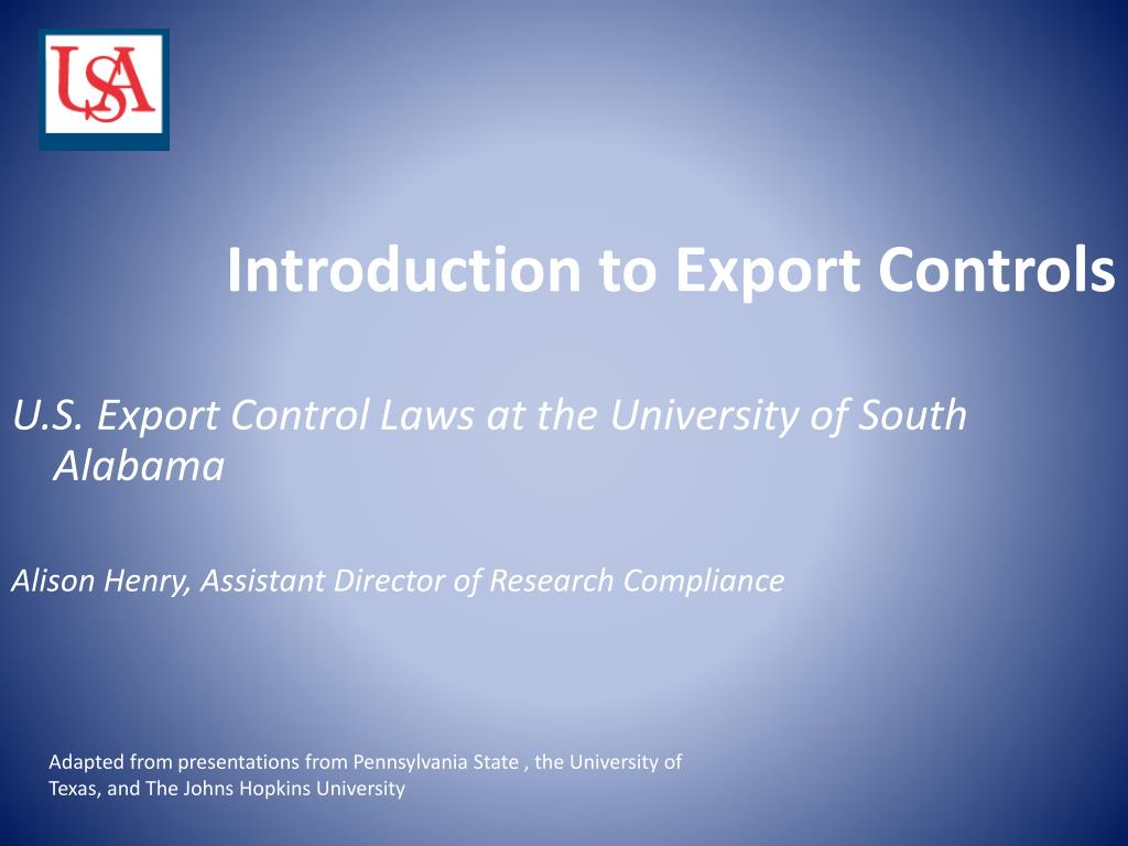 introduction to export controls l.