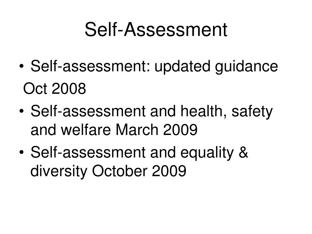 health self assessment