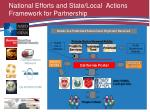 national efforts and state local actions framework for partnership
