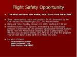flight safety opportunity