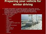 preparing your vehicle for winter driving
