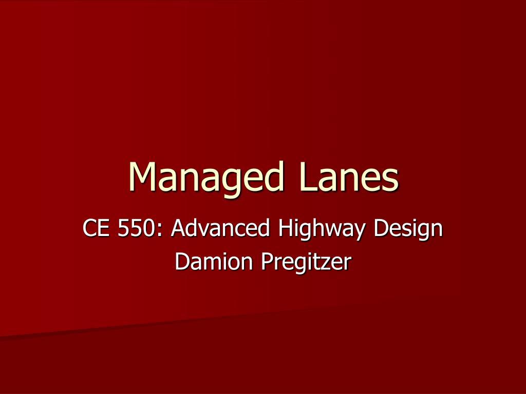 managed lanes l.