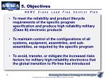 5 objectives